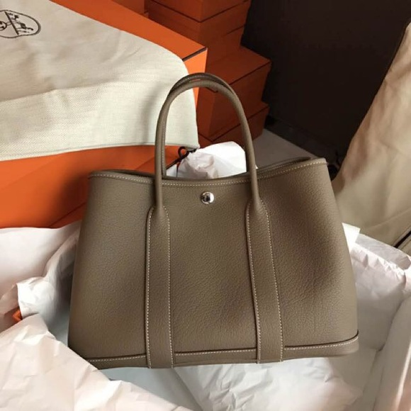 Hermes Handbags - Authentic Hermes Negonda Leather Garden Party Tote 3aa1d87ca6